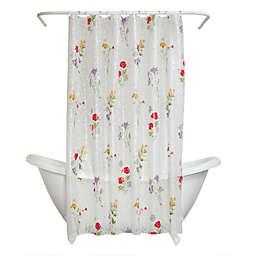 Zenna Home® Wild Flower Multicolored Printed PEVA Shower Curtain