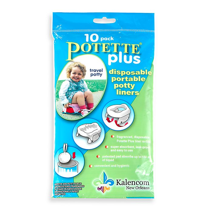Alternate image 1 for Potette® Plus 10-Pack Trainer Seat Liner Refills in Light Blue