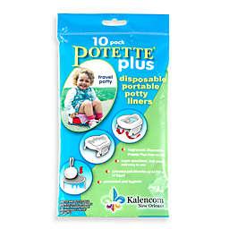 Potette® Plus 10-Pack Trainer Seat Liner Refills in Light Blue