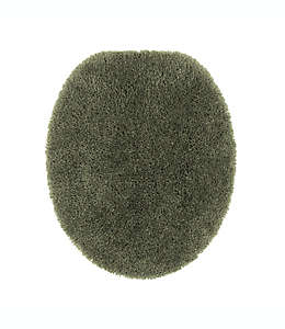 Cubierta alargada para tapa de inodoro de nylon Wamsutta® Duet, en verde salvia