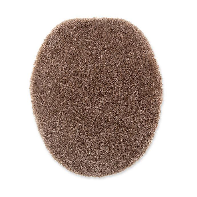 Alternate image 1 for Wamsutta® Duet Elongated Toilet Lid Cover in Latte