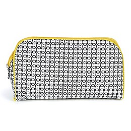 Keep Leaf Toiletry Bag/Diaper Clutch in Black/White Print