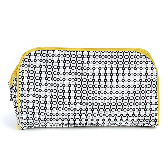 Alternate image 1 for Keep Leaf Toiletry Bag/Diaper Clutch in Black/White Print