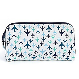Keep Leaf Toiletry Bag/Diaper Clutch in Planes Print