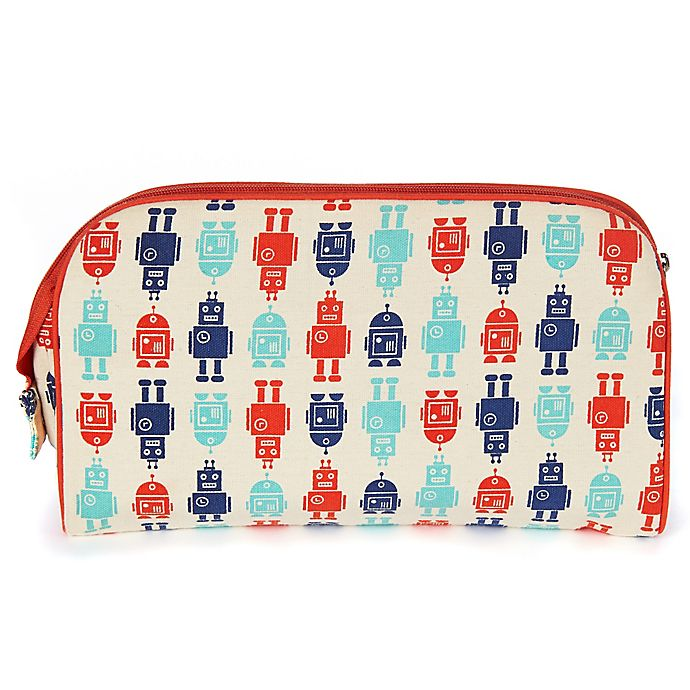 Alternate image 1 for Keep Leaf Toiletry Bag/Diaper Clutch in Robots Print