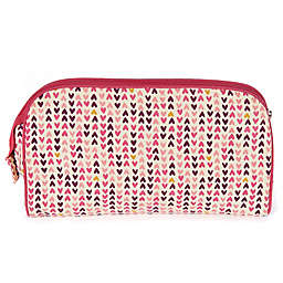 Keep Leaf Toiletry Bag/Diaper Clutch in Hearts Print