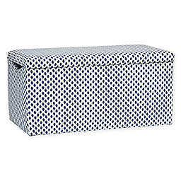 Skyline Furniture Skylar Storage Bench in Sahara Midnight White Flax