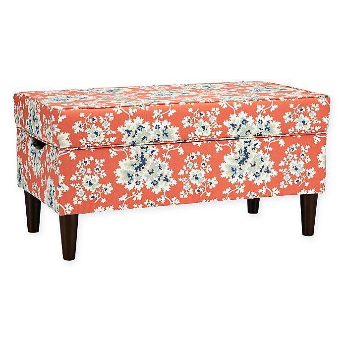 Fine Skyline Furniture Katy Storage Bench In Cecilia Coral Bed Caraccident5 Cool Chair Designs And Ideas Caraccident5Info