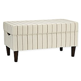 Skyline Furniture Katy Storage Bench in Fritz Charcoal