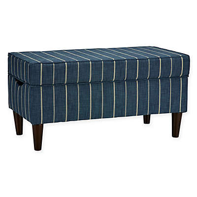 Skyline Furniture Katy Storage Bench in Fritz Indigo