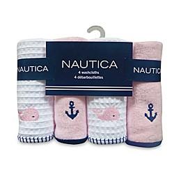 Nautica 4-Pack Washcloths in Pink