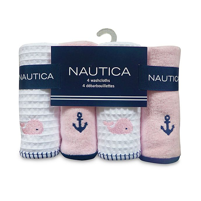 Alternate image 1 for Nautica 4-Pack Washcloths in Pink