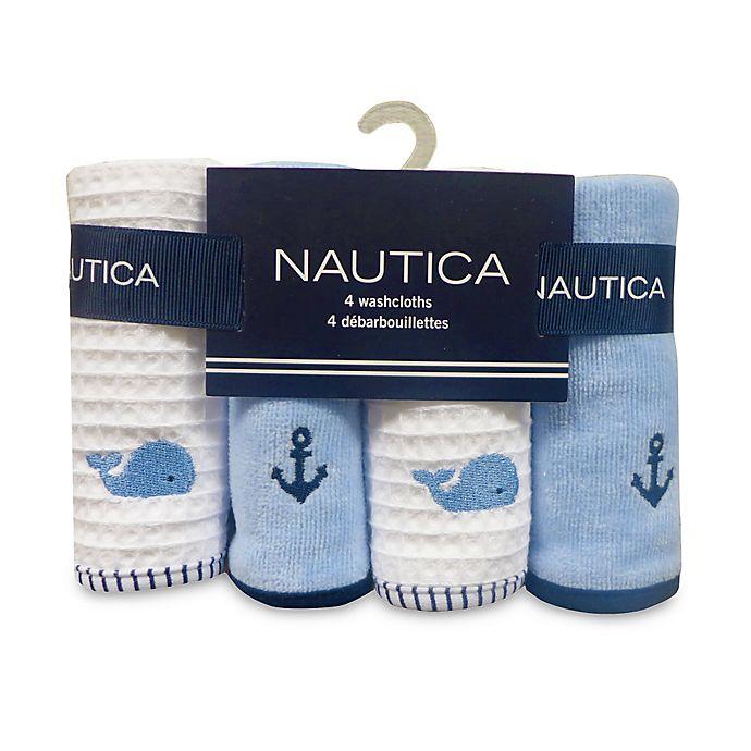 Alternate image 1 for Nautica 4-Pack Washcloths