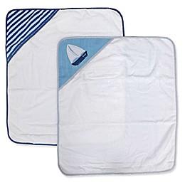 Nautica 2-Pack Hooded Towel Set in Navy