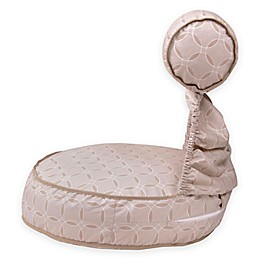 Preggie Pouffe® Maternity Soft Seat in Taupe Rings Print