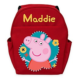Peppa Pig Flower Fun Toddler Backpack in Red