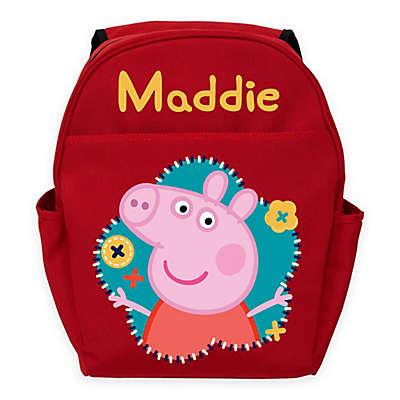 Peppa Pig Flower Fun Toddler Backpack in Red