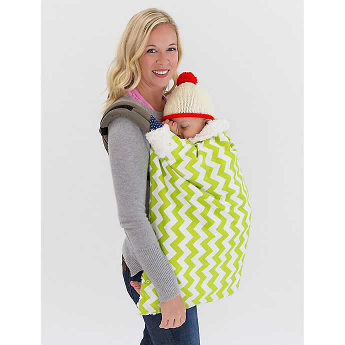 Alternate image 1 for Bella Bundles™ Infant 4-in-1 Blanket on the Go in Lime Chevron