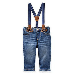 OshKosh Baby B'gosh® Derby Wash Suspender Jeans in Blue