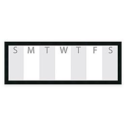 Mezzanotte Dry-Erase Week Calendar with Horizontal Format