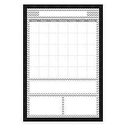 Mezzanotte Chevron Dry-Erase Blank Calendar in Grey