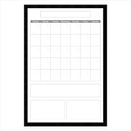 Mezzanotte White Big Dry-Erase Calendar with Vertical Format