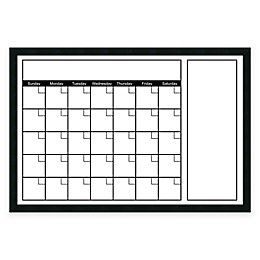 Mezzanotte White Big Dry-Erase Calendar with Horizontal Format
