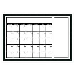 Mezzanotte White Big Dry-Erase Calendar with Horizontal Format