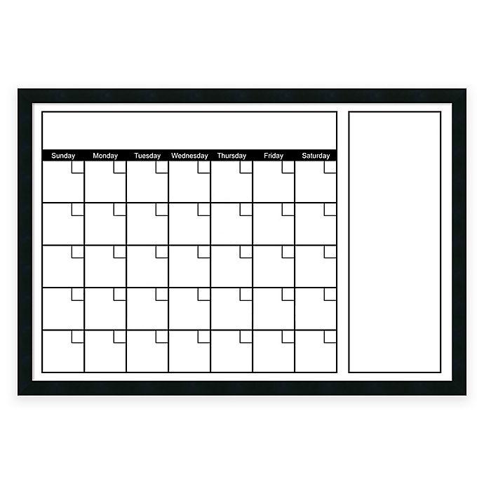 Mezzanotte White Big Dry Erase Calendar With Horizontal Format Bed