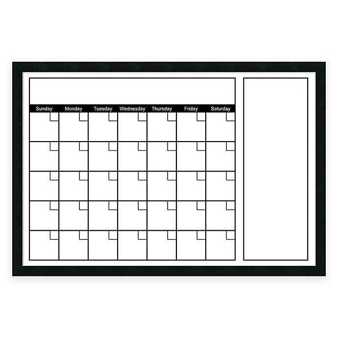 Alternate image 1 for Mezzanotte White Big Dry-Erase Calendar with Horizontal Format