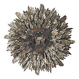 Golden Roast Metal Foliage Explosion Wall Décor