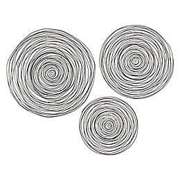 STERLING 3-Piece Triskele Spiral Wall Decor in Gunmetal Grey