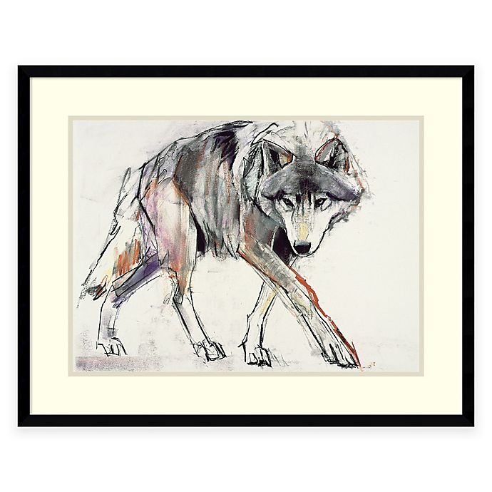 Alternate image 1 for Mark Adlington Wolf Framed Wall Art
