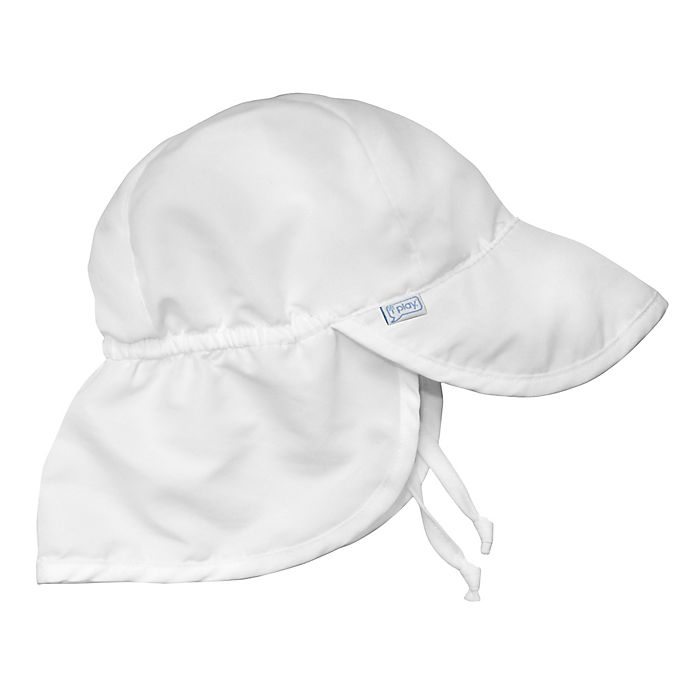 Alternate image 1 for i play.® Infant Sun Flap Hat in White