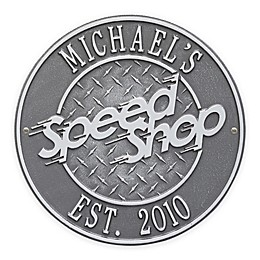 Whitehall Products 12-Inch Speed Shop Plaque