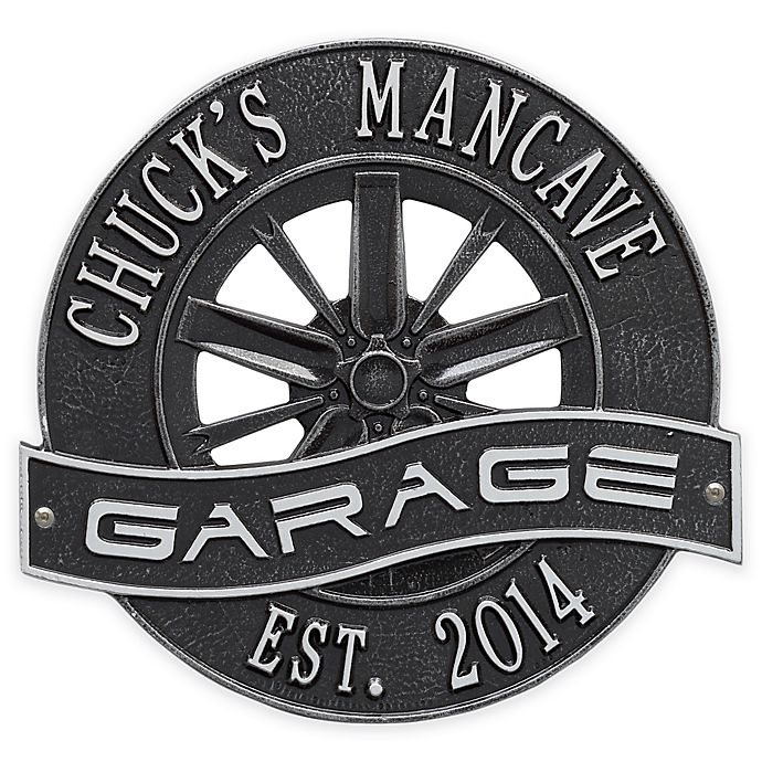 Alternate image 1 for Whitehall Products 12-Inch Racing Wheel Garage Plaque