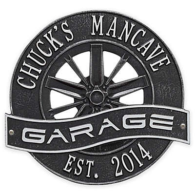 Whitehall Products 12-Inch Racing Wheel Garage Plaque