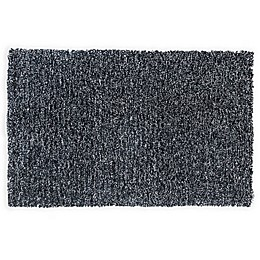 KAS Bliss Heather 2-Foot 3-Inch x 3-Foot 9-Inch Shag Accent Rug in Black