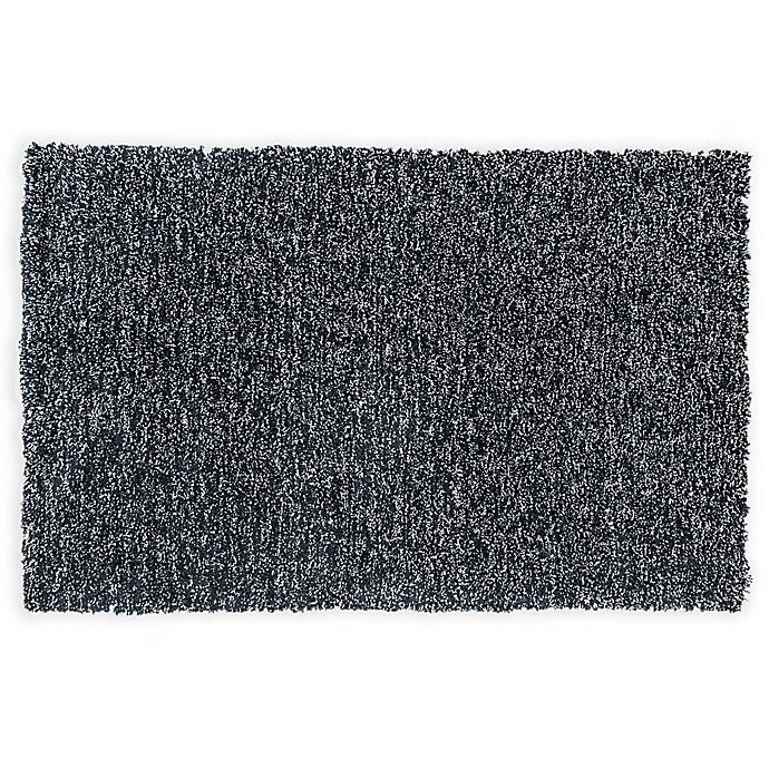 Alternate image 1 for KAS Bliss Heather 2-Foot 3-Inch x 3-Foot 9-Inch Shag Accent Rug in Black