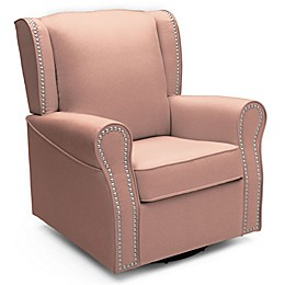 Delta Children Middleton Swivel Glider in Blush