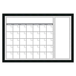 Mezzanotte Chevron Big Dry-Erase Blank Calendar in Grey