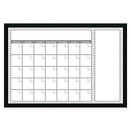 Mezzanotte Chevron Big Dry-Erase Blank Calendar in Grey