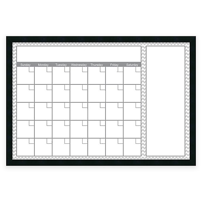 Alternate image 1 for Mezzanotte Chevron Big Dry-Erase Blank Calendar in Grey