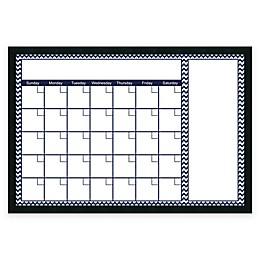 Mezzanotte Chevron Big Dry-Erase Blank Calendar in Blue