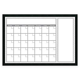 Mezzanotte Quatrefoil Dry-Erase Calendar in Grey