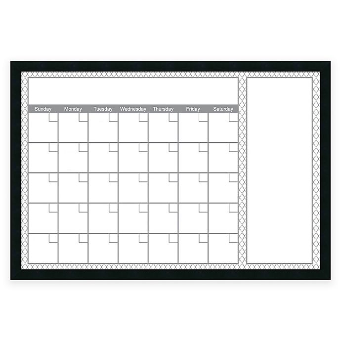 Alternate image 1 for Mezzanotte Quatrefoil Dry-Erase Calendar in Grey