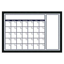 Mezzanotte Quatrefoil Dry-Erase Calendar in Blue