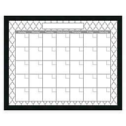 Mezzanotte Quatrefoil Dry-Erase Blank Calendar in Grey
