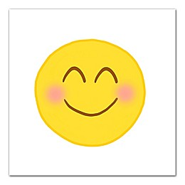 Blushing Emoji Canvas Wall Art