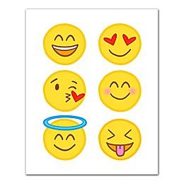 Happy Emoji Collection Canvas Wall Art